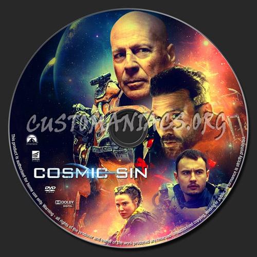 Cosmic Sin dvd label