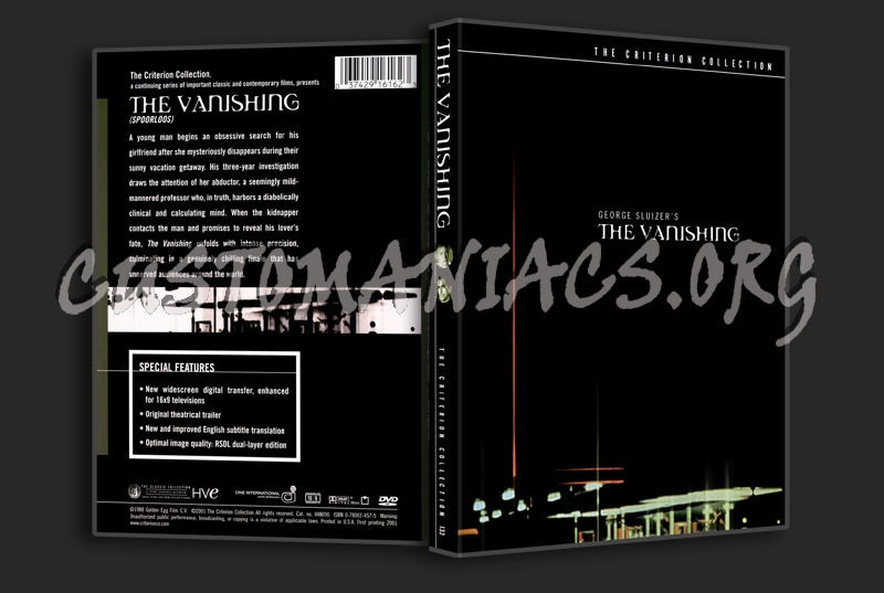 133 - The Vanishing dvd cover