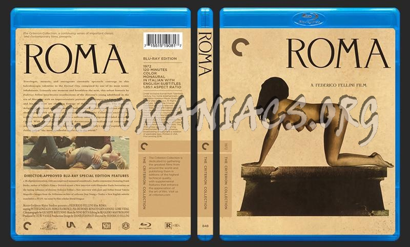 848 - Roma blu-ray cover