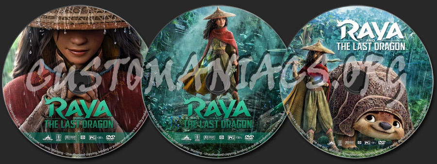 Raya and the Last Dragon dvd label