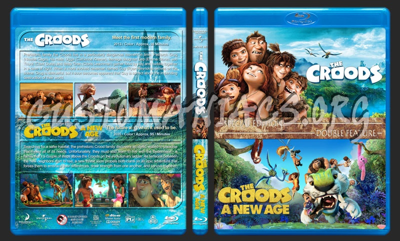 The Croods Double Feature blu-ray cover