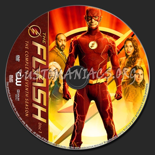The Flash Season 7 dvd label