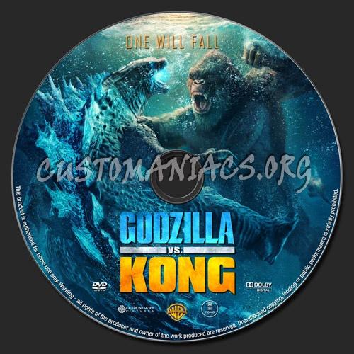 Godzilla vs kong dvd label