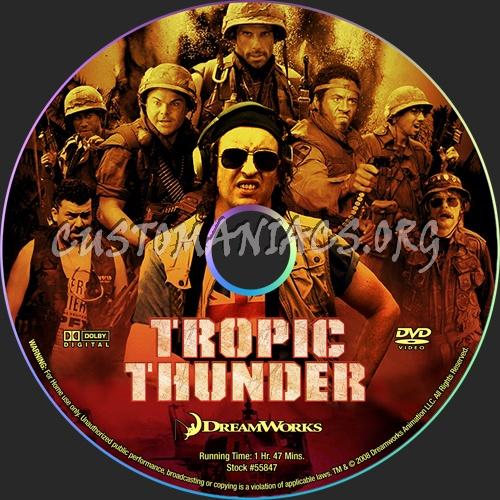 Tropic Thunder dvd label