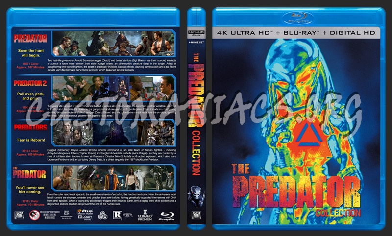 The Predator Collection (4K) blu-ray cover