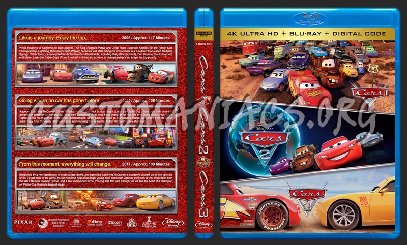 Cars Triple Feature (4K) blu-ray cover