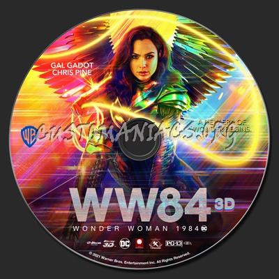 Wonder Woman 1984 (2D & 3D) blu-ray label