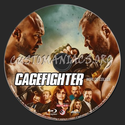 Cagefighter Worlds Collide (2020) blu-ray label