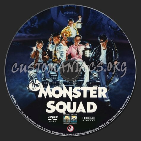 The Monster Squad (1987) dvd label