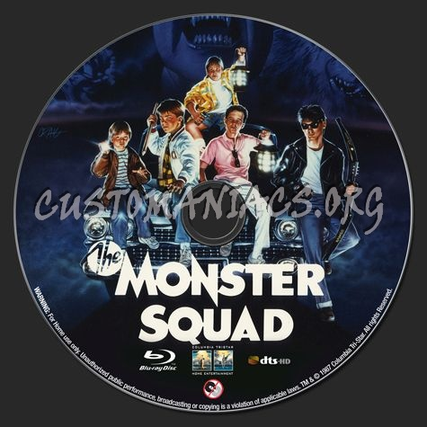 The Monster Squad (1987) blu-ray label