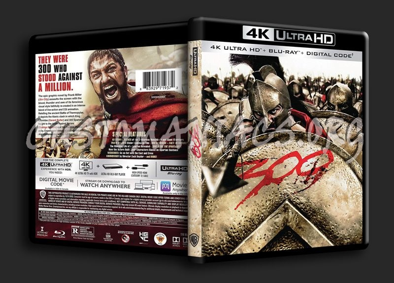 300 4k blu-ray cover
