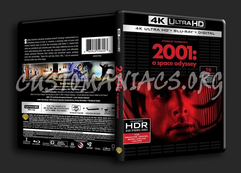 2001 A Space Odyssey 4K blu-ray cover