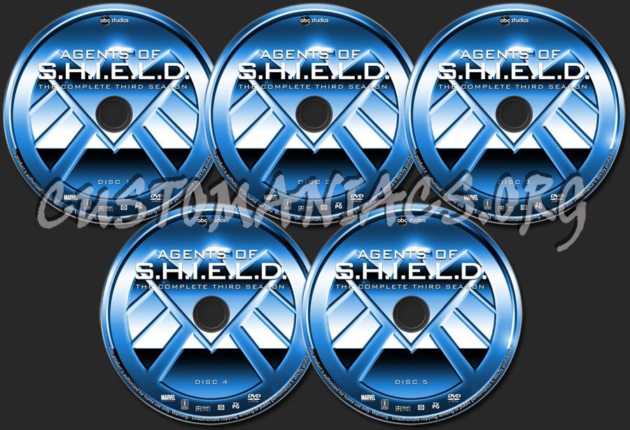 Agents of S.H.I.E.L.D. - Season 3 dvd label