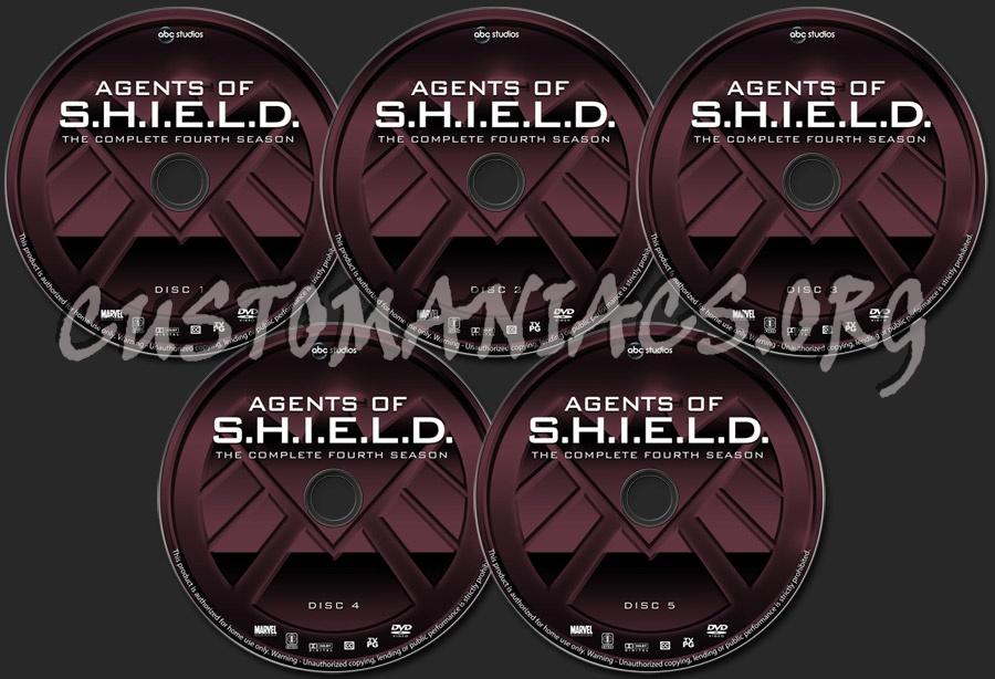 Agents of S.H.I.E.L.D. - Season 4 dvd label