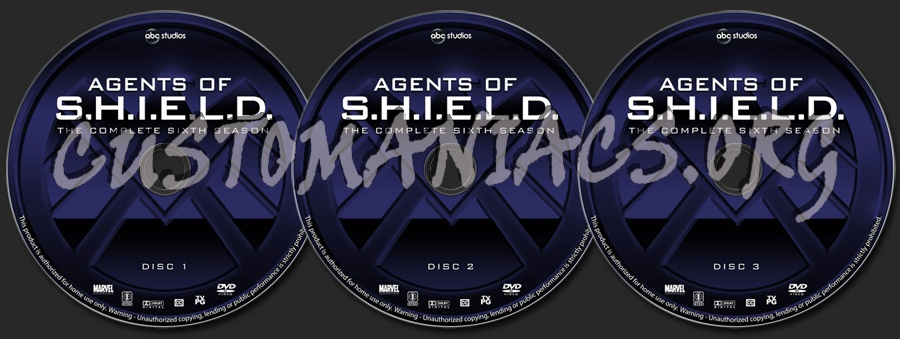 Agents of S.H.I.E.L.D. - Season 6 dvd label