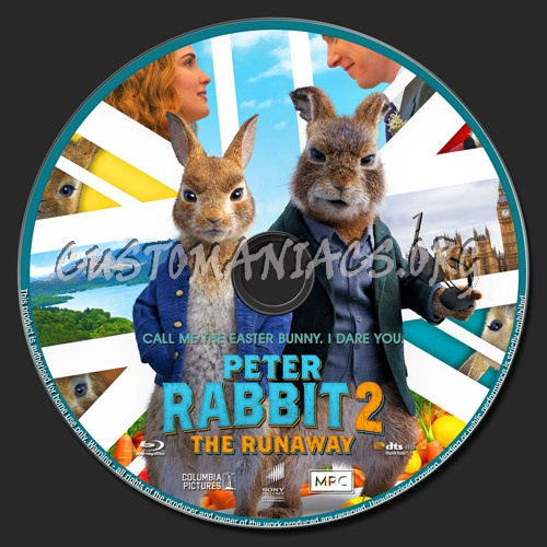 Peter Rabbit 2 The Runaway blu-ray label
