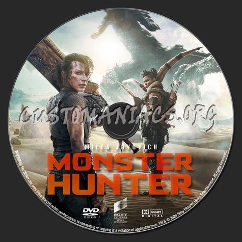 Monster Hunter (2020) dvd label