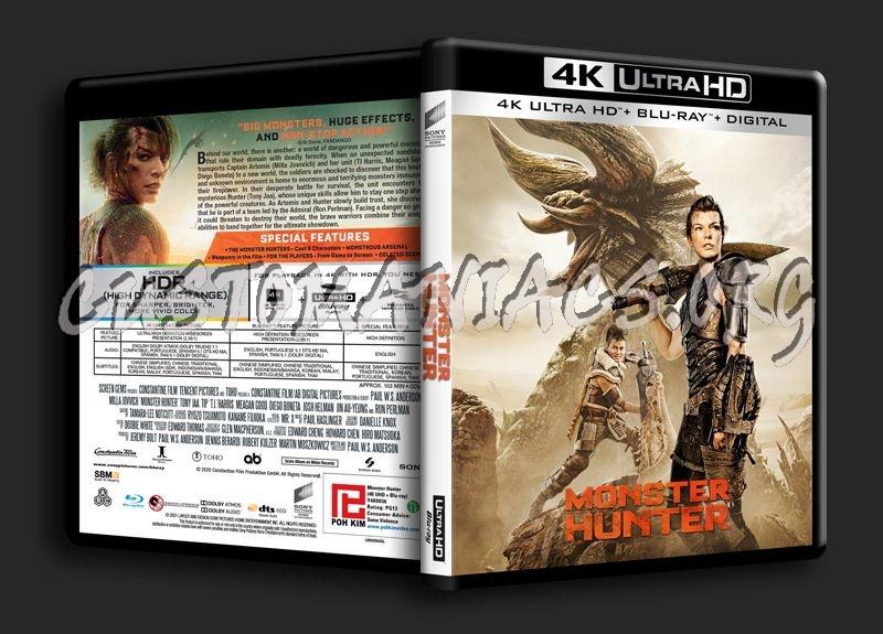 Monster Hunter 4K blu-ray cover