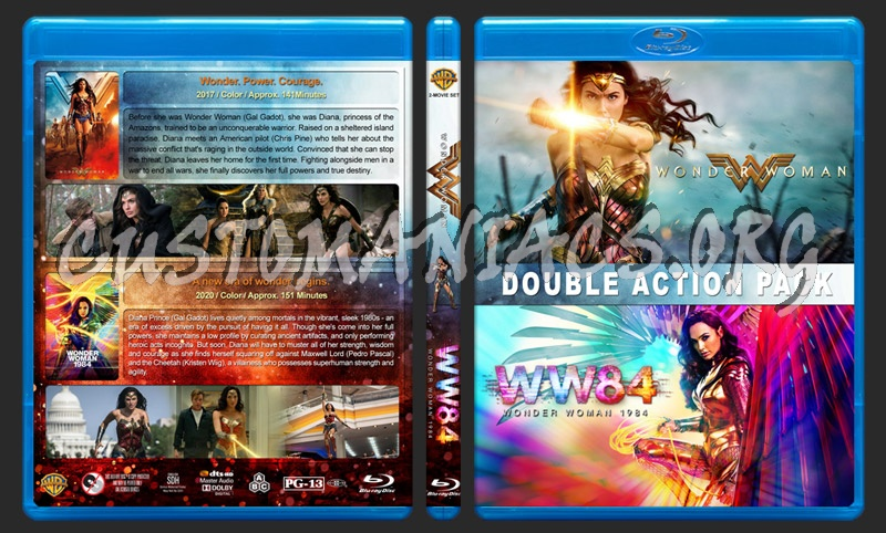 Wonder Woman Double Feature blu-ray cover