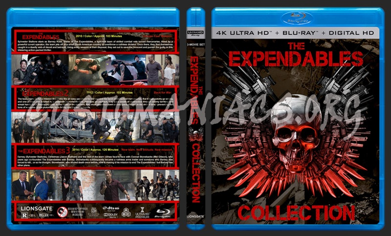 The Expendables Collection (4K) blu-ray cover