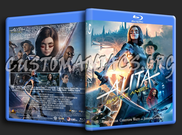 Alita: Battle Angel (2019) blu-ray cover