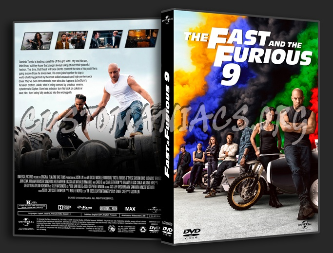 F9 The Fast Saga (aka Fast & Furious 9) (2021) dvd cover
