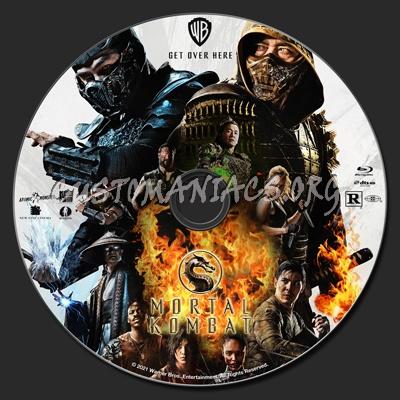 Mortal Kombat (2021) blu-ray label