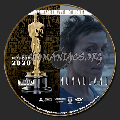 Academy Awards Collection - Nomadland dvd label