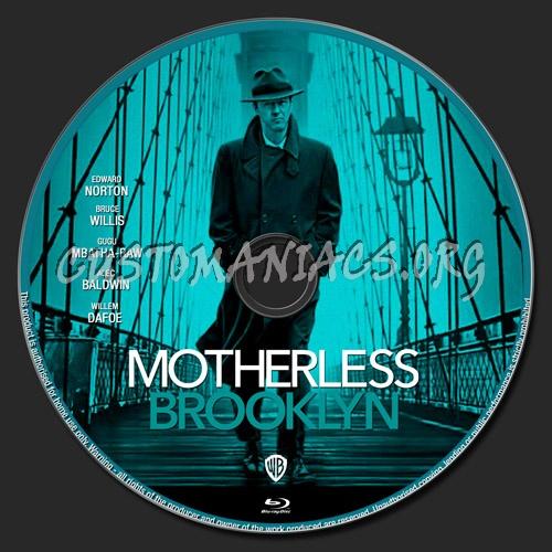 Motherless Brooklyn blu-ray label