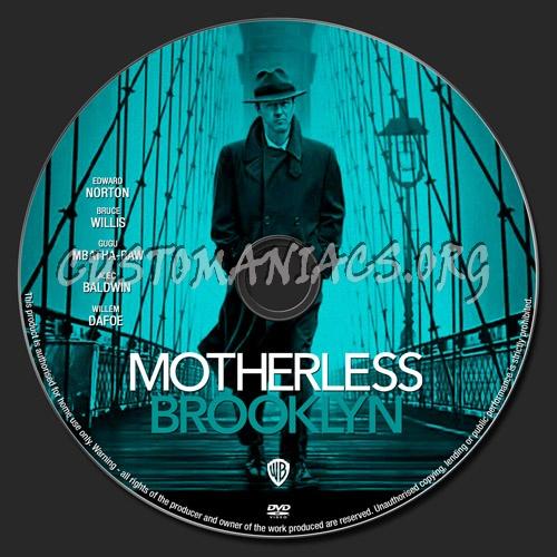 Motherless Brooklyn dvd label