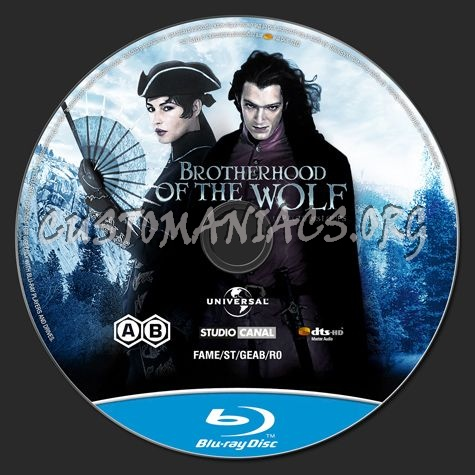 Brotherhood of the Wolf blu-ray label