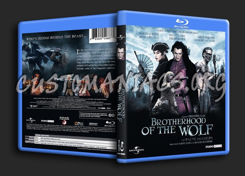 Brotherhood of the Wolf blu-ray cover