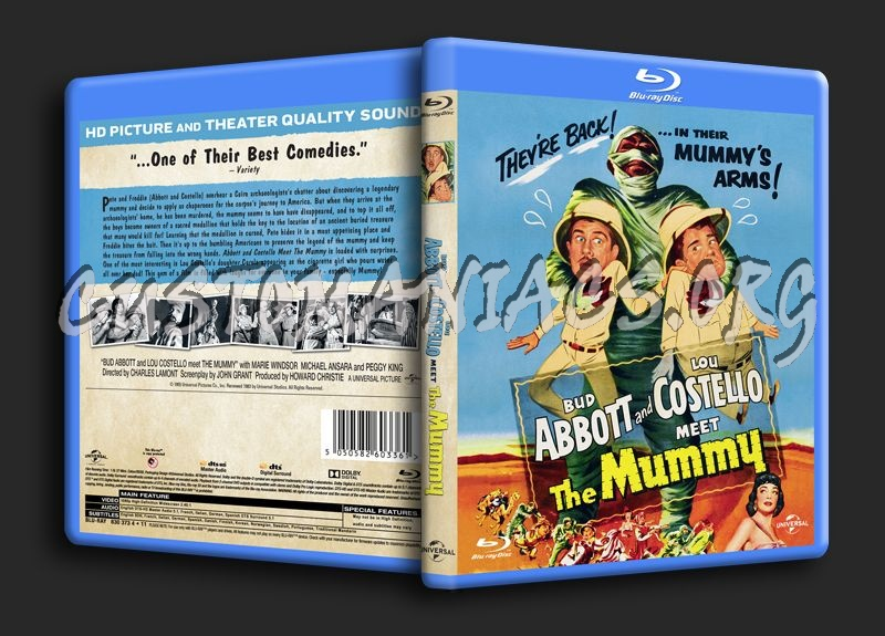 Bud Abbott and Lou Costello Meet the Mummy blu-ray cover