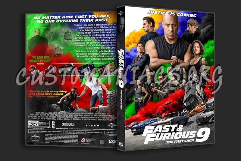 F9 The Fast Saga (aka Fast & Furious 9) dvd cover