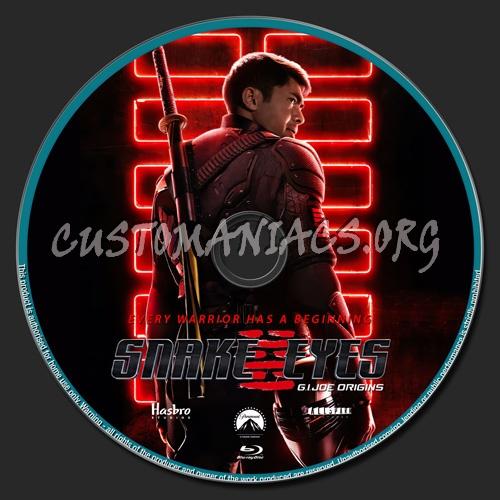 Snake Eyes G.I.Joe Origins blu-ray label
