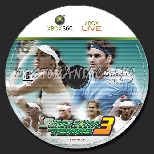 Smash Court Tennis dvd label