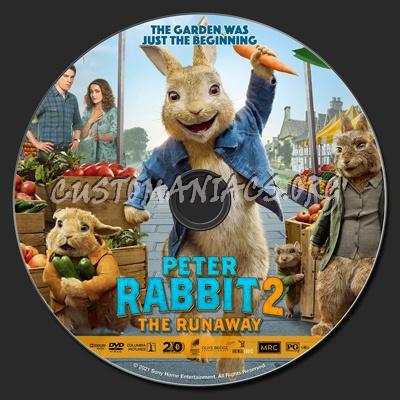 Peter Rabbit 2: The Runaway dvd label