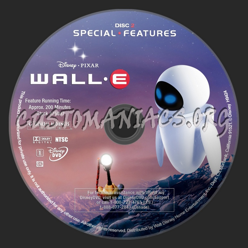 Wall-E dvd label