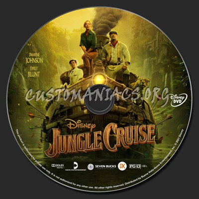 Jungle Cruise (2021) dvd label