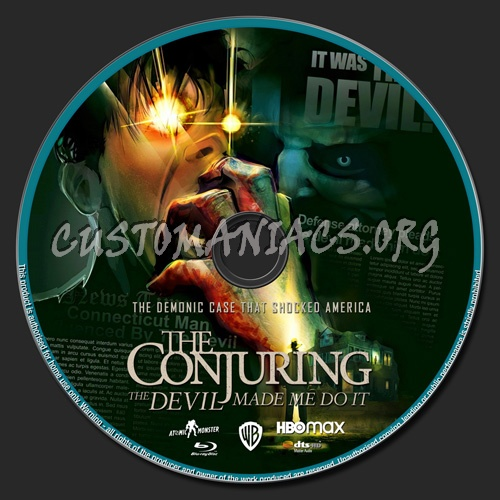 The Conjuring The Devil Made Me Do It blu-ray label
