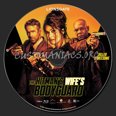 The Hitman's Wife's Bodyguard blu-ray label