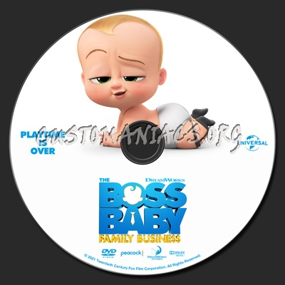 The Boss Baby: Family Business dvd label