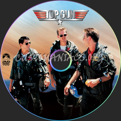Top Gun dvd label