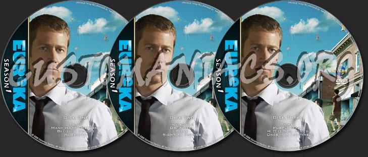 Eureka Season One dvd label