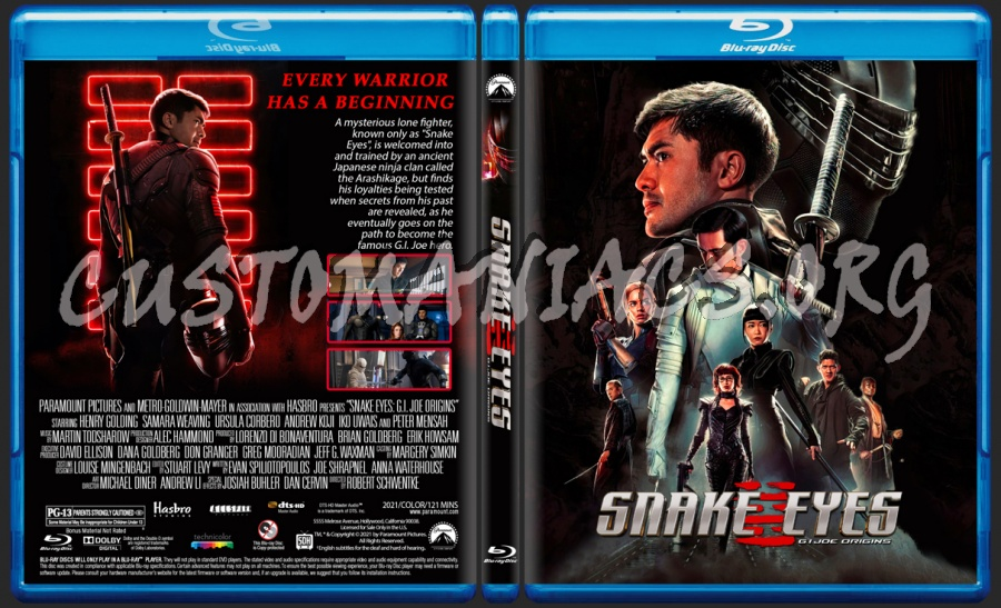 Snake Eyes G.I.Joe Origins blu-ray cover