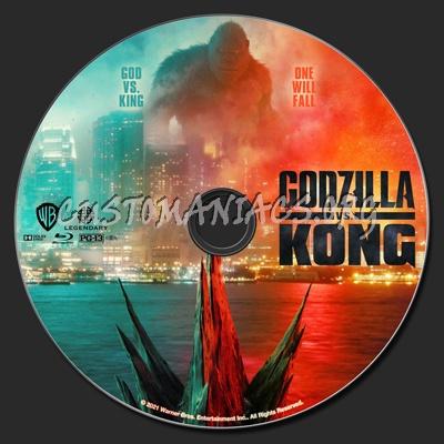 Godzilla vs. Kong (2D & 3D) blu-ray label