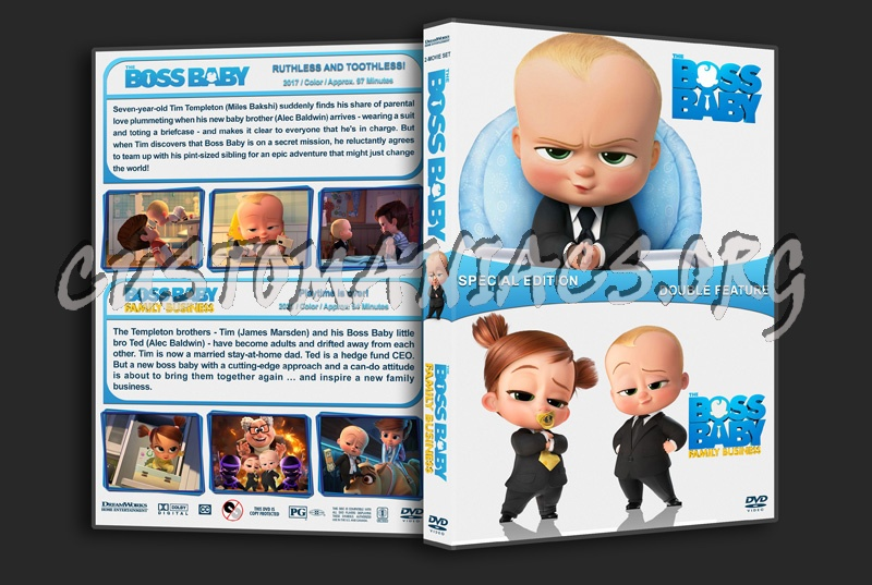 The Boss Baby Double Feature dvd cover