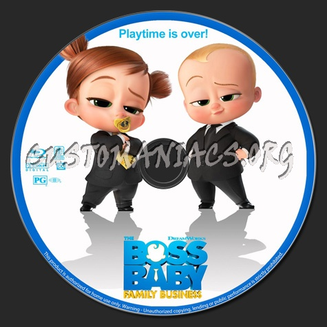 The Boss Baby: Family Business blu-ray label