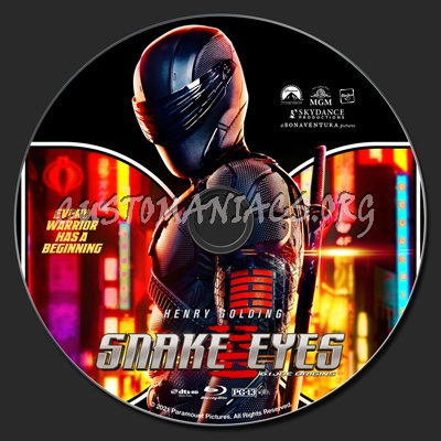 Snake Eyes: G.I. Joe Origins blu-ray label