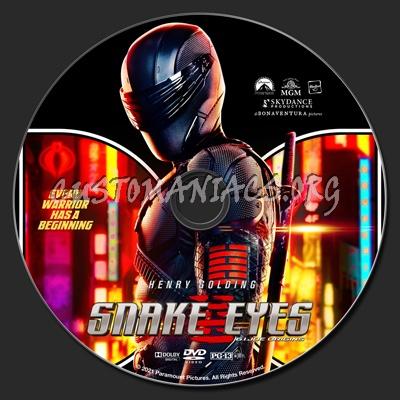 Snake Eyes: G.I. Joe Origins dvd label